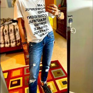 Rag & bone slim fit boyfriend jeans size 24 Canyon